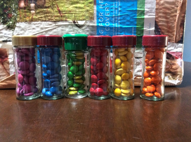 Smartie & m&m primary + secondary colours